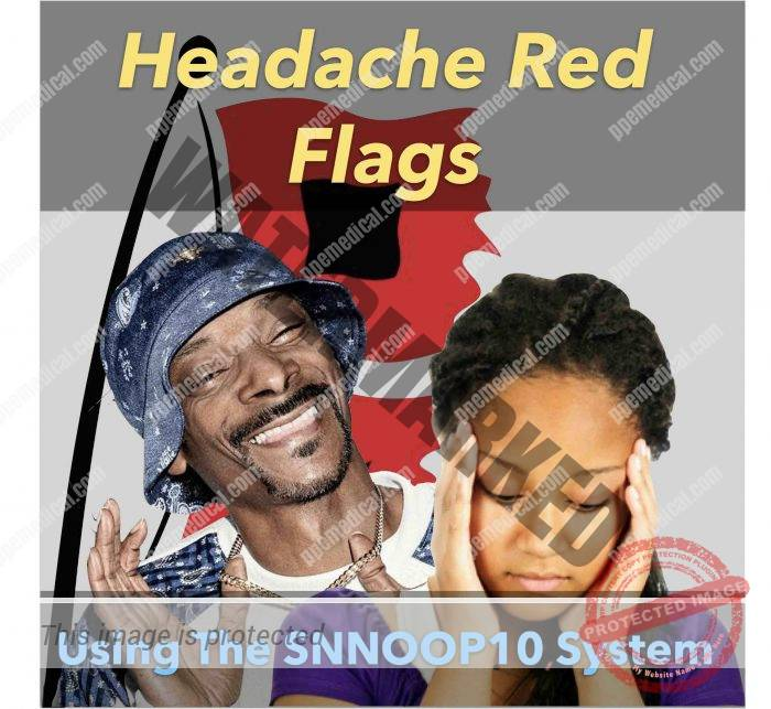 Headache red flags and the snnoop10 system