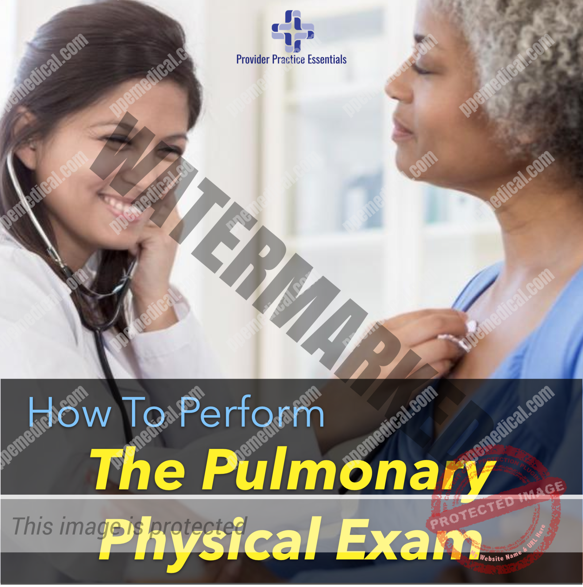 how to perform the pulmonary physical examination
